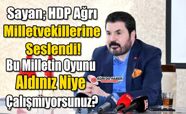 Sayan; HDP'li Vekillere Seslendi! Niye çalışmıyorsunuz?