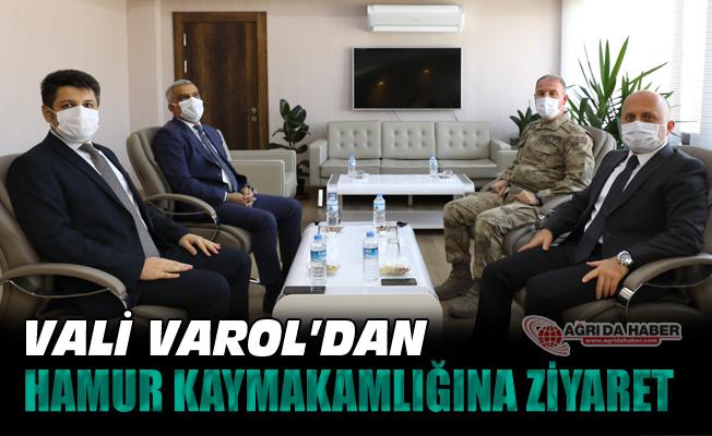 Vali Dr. Osman Varol'dan Hamur Kaymakamlığına ziyaret