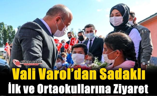 Vali Varol'dan Sadaklı İlk ve Ortaokullarına Ziyaret