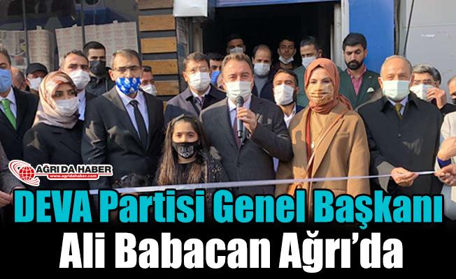 DEVA Partisi Genel Başkanı Ali Babacan Ağrı'da
