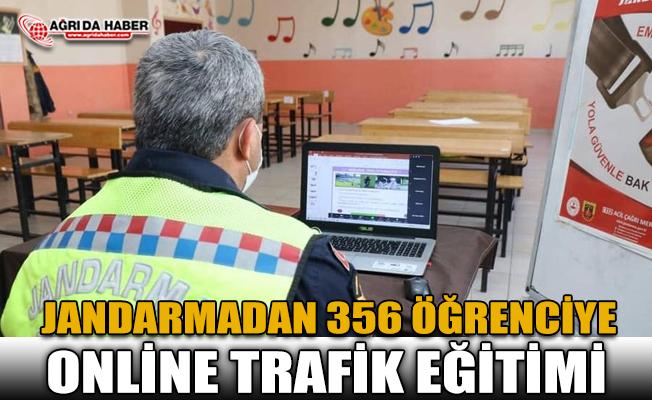 Jandarma Ağrı'da 356 Öğrenciye Trafik Eğitimi Verdi