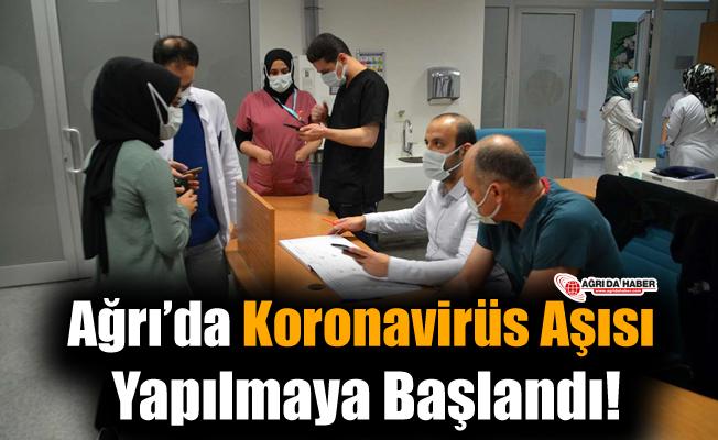 Ağrı'da İlk Koronavirüs Aşısı Uygulandı!