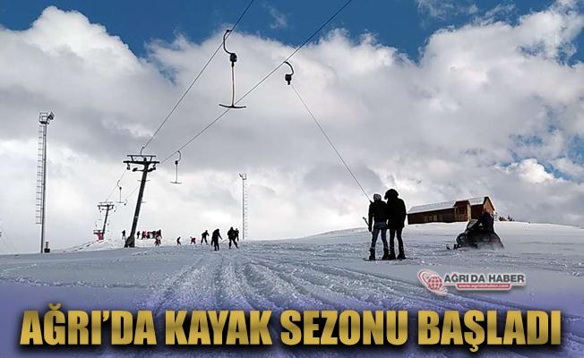 Ağrı'da kayak sezonu geçde olsa başladı