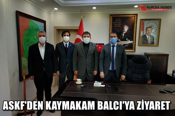 ASKF'den Kaymakam Alper Balcı'ya Hayırlı olsun ziyareti