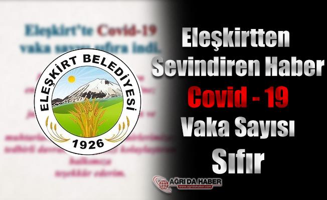 Eleşkirt'te Covid-19 Vaka Sayısı Sıfır