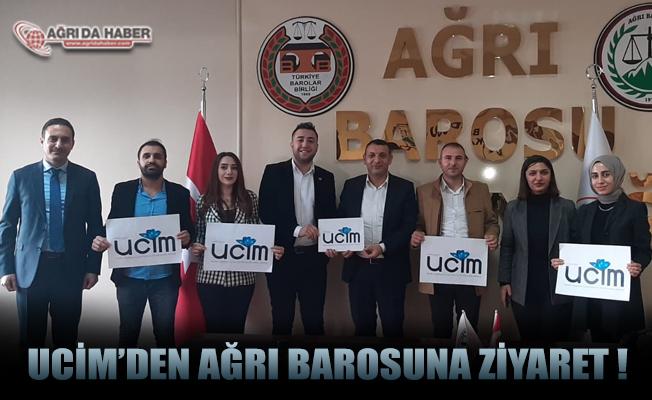 UCİM'den Ağrı Barosu Başkanı Av. Mehmet Salih Aydın'a ziyaret