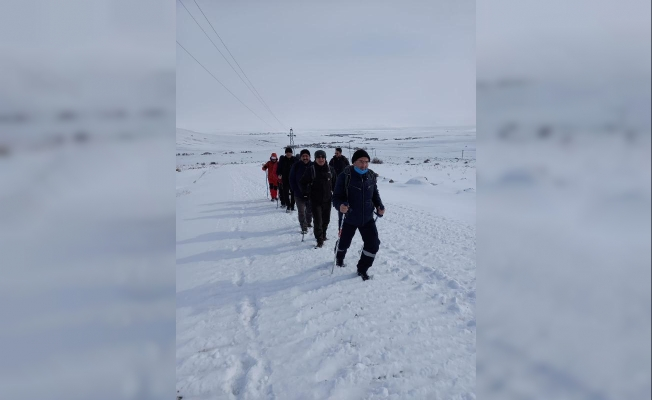 Ağrıda dağcılar Bubi Dağı'na tırmandı