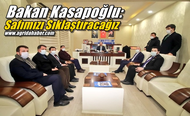 """Bakan Kasapoğlu """"Fitne ve fesada aldırış etmeden safımızı sıklaştıracağız"""""""