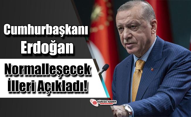 Cumhurbaşkanı Erdoğan Normalleşecek İlleri Açıkladı