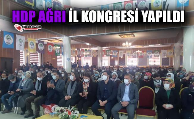 HDP Ağrı İl Başkanlığı Kongresi Yapıldı