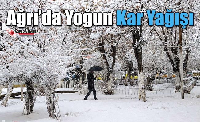 Ağrı'da Yoğun Kar Yağışı Etkili oldu!