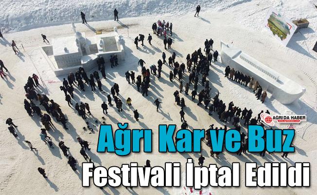 Ağrı Kar ve Buz Festivali İptal Edildi
