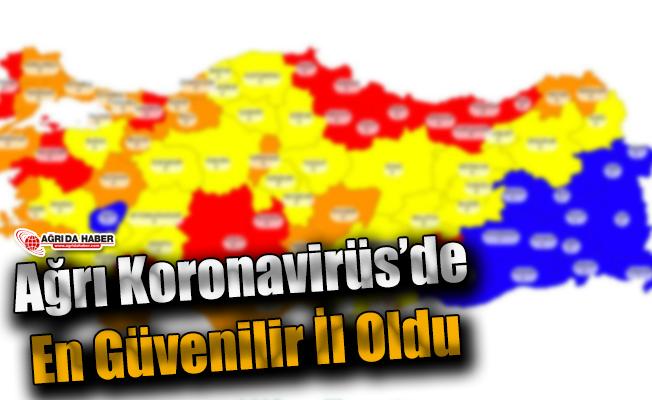 Koronavirüs Türkiye Tablosu Yayınlandı! Ağrı Güvenilir İller Arasında