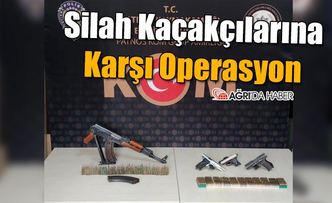 Ağrı'da Silah Kaçakçılarına Karşı Operasyon