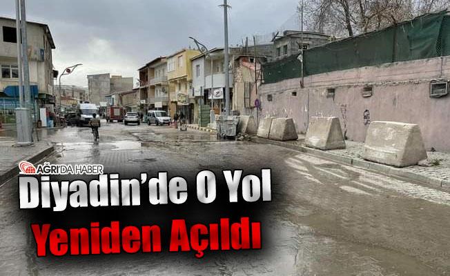 Diyadin'de Kapalı Olan O Yol Yeniden Açıldı