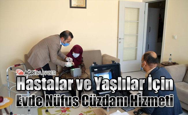 Hastalar ve Yaşlılar İçin Evde Nüfus Cüzdanı Hizmeti