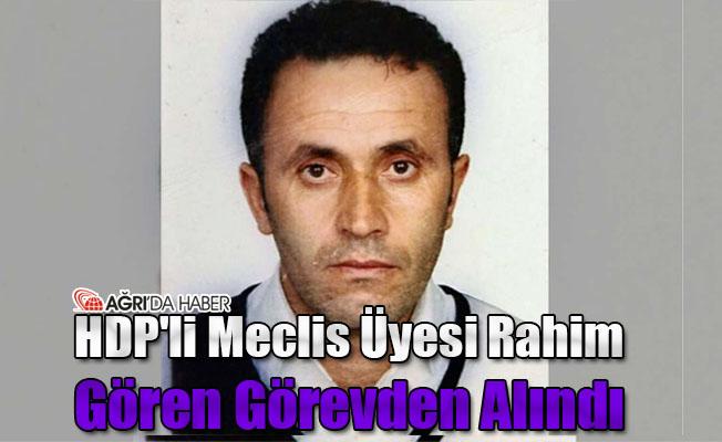 HDP'li Meclis üyesi Rahim Gören Görevden Alındı