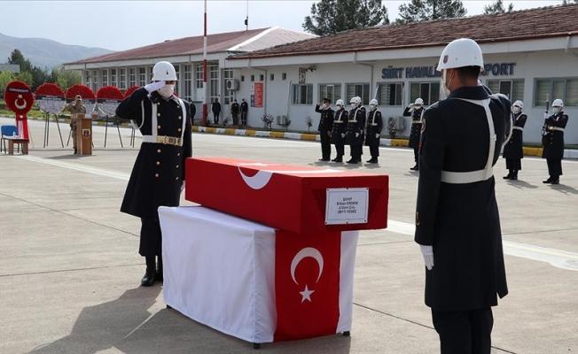 Siirt'te Şehit Olan Asker Tören Düzenlendi