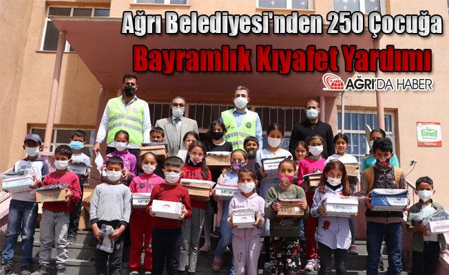 Ağrı Belediyesi'nden 250 Çocuğa Bayramlık Kıyafet!