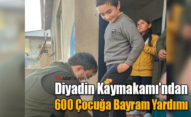 Diyadin Kaymakamı'ndan 600 Çocuğa Bayram Yardımı
