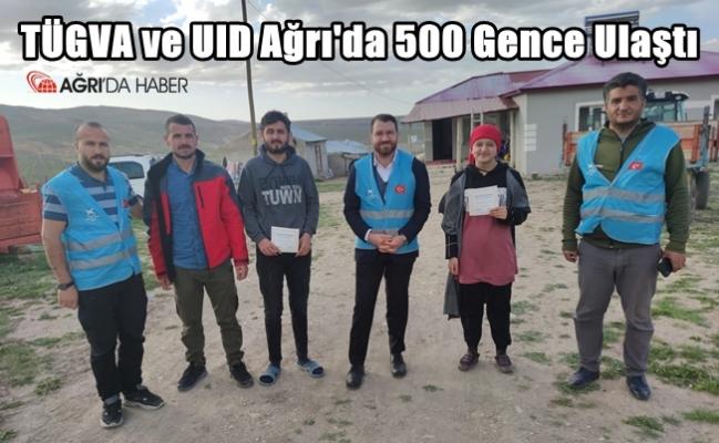 TÜGVA ve UID Ağrı'da 500 gence ulaşarak bayramlaştı