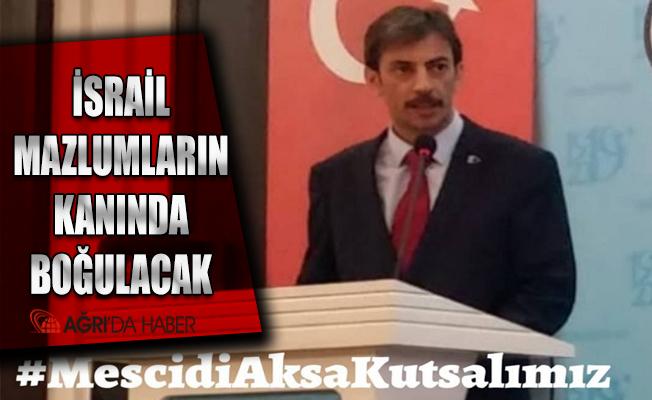 Türkiye Kamu-SenAğrı İl Temsilciliğinden İsrail'e Tepki