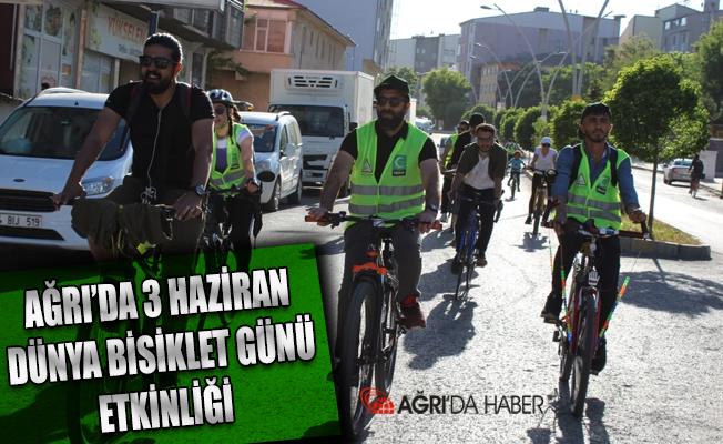 Ağrı'da 3 Haziran Dünya Bisiklet Günü Etkinliği