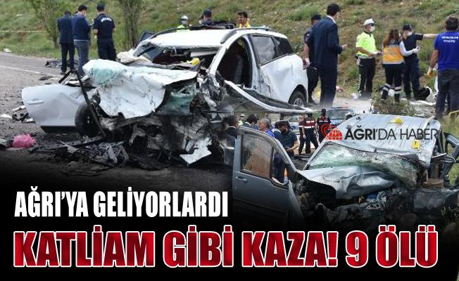İstanbul'dan Ağrıya gelen araç kaza yaptı! 9 Ölü