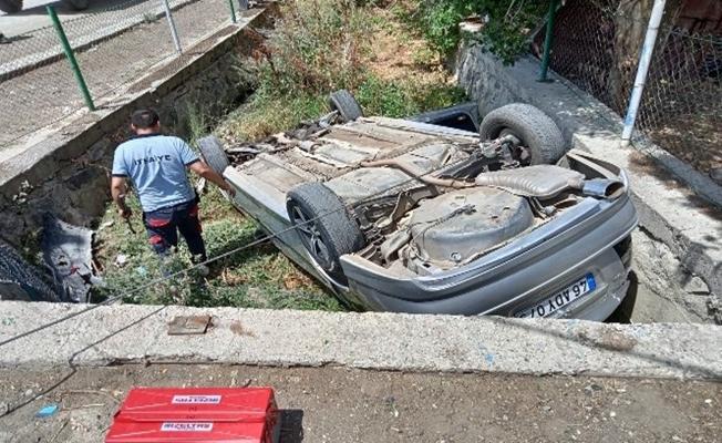 Ağrı'da Şu Giderine Düşen Araç Panik Yarattı!