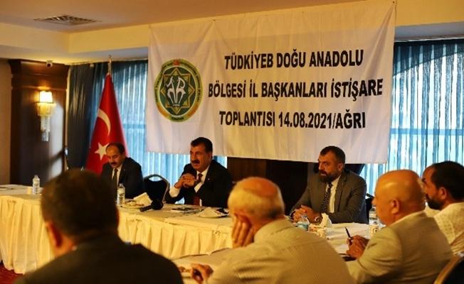 Ağrı'da TÜDKİYEB bölge toplantısı yapıldı