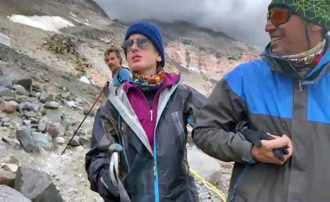 Ağrı Dağı'na Özel Bir Misafir Tırmandı