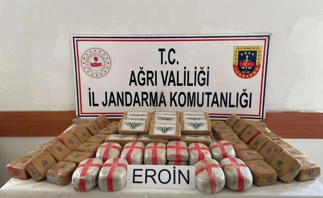 Doğubayazıt'ta 50 kilogram eroin ele geçirildi