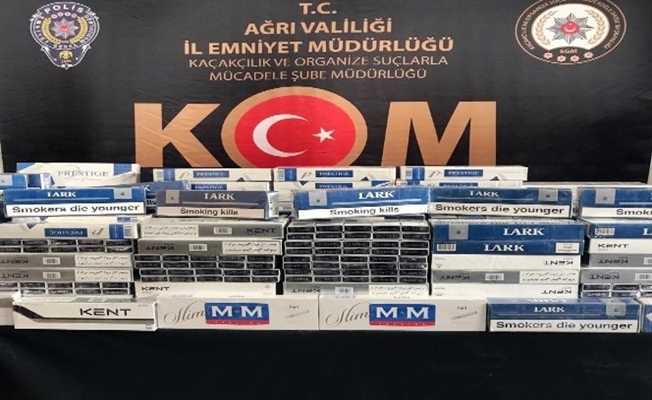 Ağrı'da kaçan araçtan 2 bin 500 karton kaçak sigara çıktı