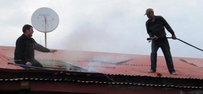 Iğdır'da ev yangını