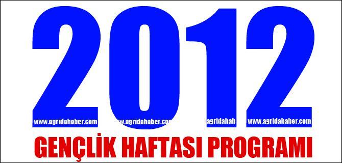2012 GENÇLİK HAFTASI PROGRAMI