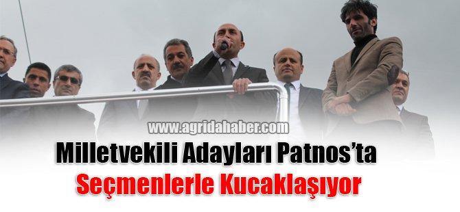 Milletvekili Adayları Patnos'ta  Seçmenlerle Kucaklaşıyor