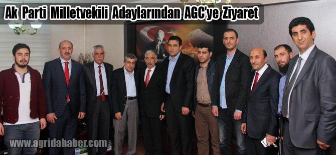 Ak Parti Milletvekili Adayları Ağrı Gazeteciler Cemiyetini Ziyaret Etti