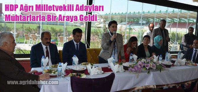 HDP Ağrı Milletvekili Adayları Muhtarlarla bir araya geldi