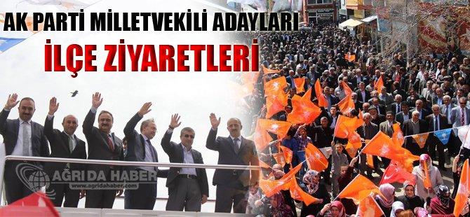 Ak Parti Ağrı Milletvekili Adayları İlçeleri Ziyaret Etti