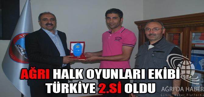Ağrı Belediyesi Halk Oyunları Yarışmasında Türkiye 2.si oldu.