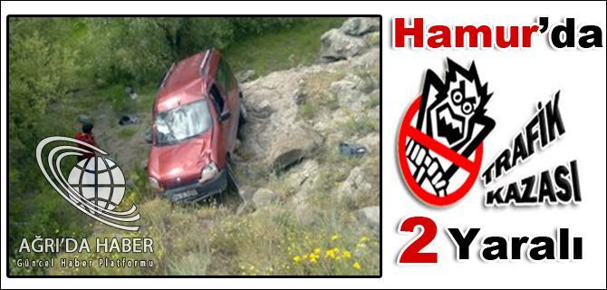 Ağrının Hamur ilçesinde trafik kazası 2 yaralı