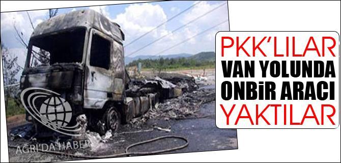 PKK LILAR VAN YOLUNDA 11 ARACI YAKTILAR