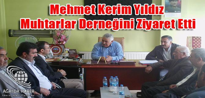 Ağrı Milletvekili Op. Dr. Mehmet Kerim Yıldız Muhtarlar derneğini ziyaret etti