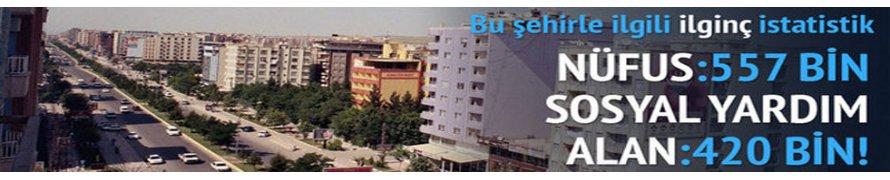 İşte Türkiye'nin En çok Yardım Alan Şehri !