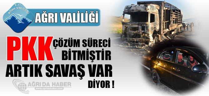 PKK Ağrı'da Savaş Açtı