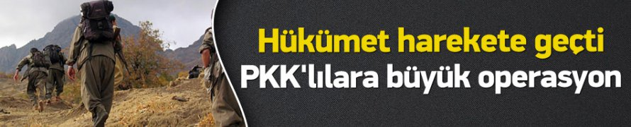 Hükümetten PKK'ya Büyük Operasyon !