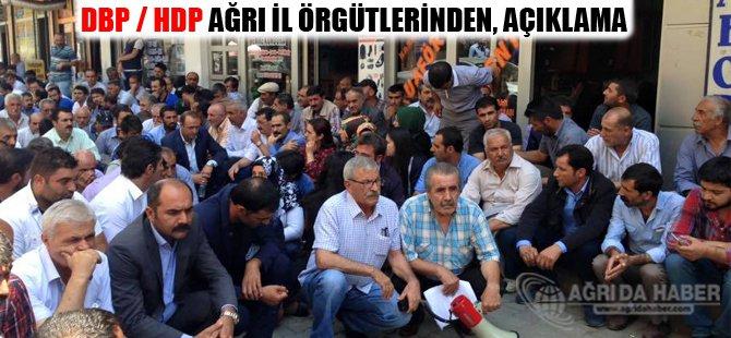DBP / HDP Ağrı İl Örgütlerinden Basın Açıklaması