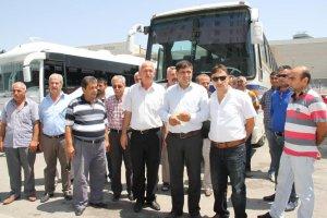 Malatya'da servisçilerden basın açıklaması