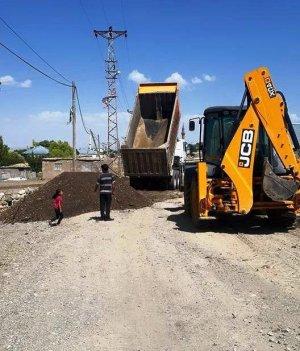 Sarıpınar'da yol genişletme çalışmaları