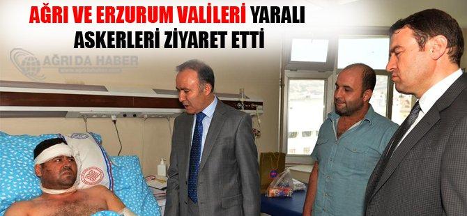 Ağrı ve Erzurum Valileri Yaralı Askerleri Ziyaret etti